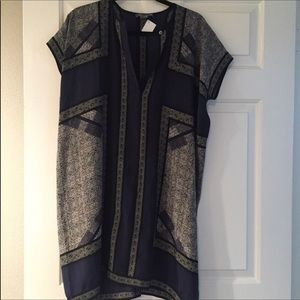 VINCE Silk Shift Dress